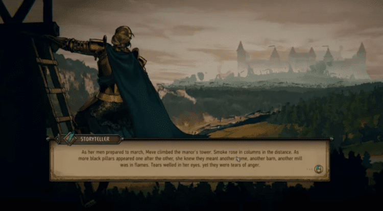thronebreaker animated cutscene