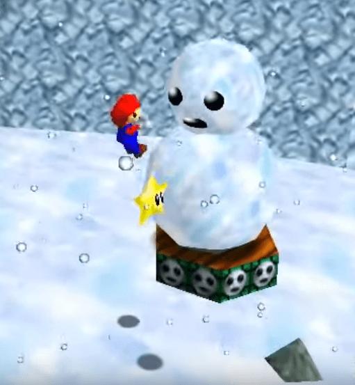 Super Mario 64 - Snowman