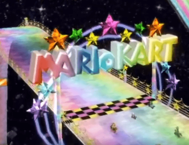 Mario Kart Gameplay - Rainbow Road
