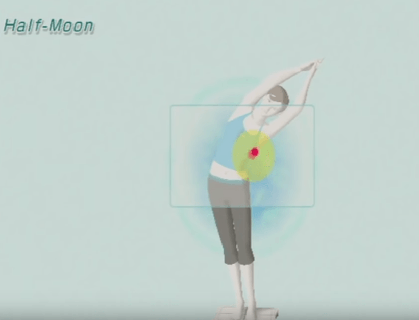 Wii Fit Gameplay - Yoga Half Moon