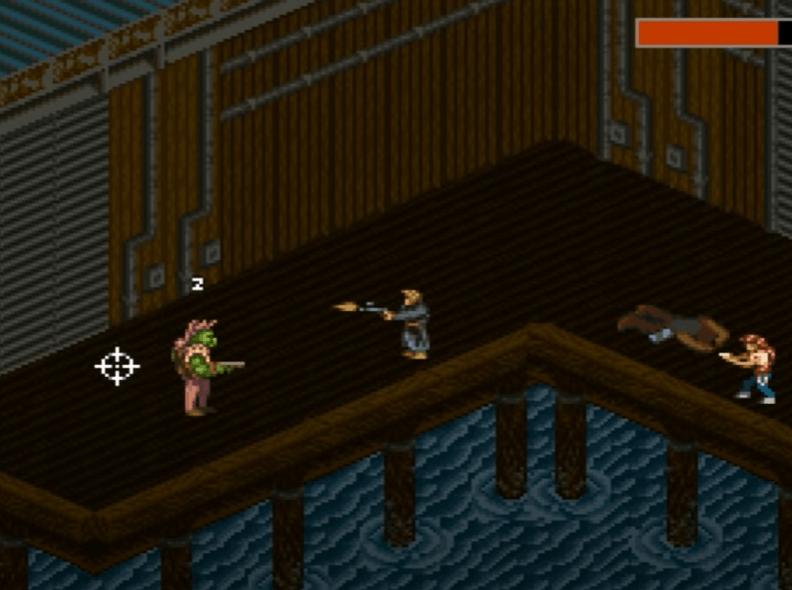 Shadowrun 1993 SNES Gameplay