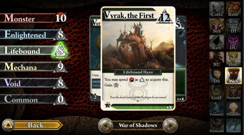 Ascension Deckbuilding Game War of Shadows
