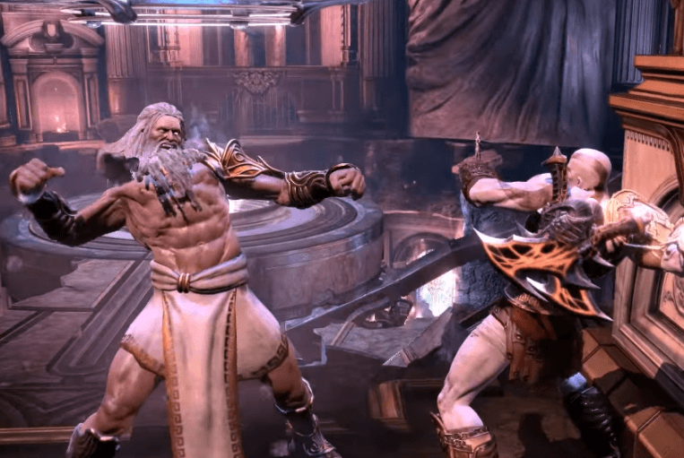 Zeus and Kratos Double Punch