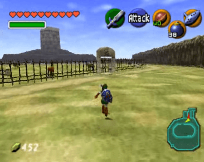 Link on his way to get Epona