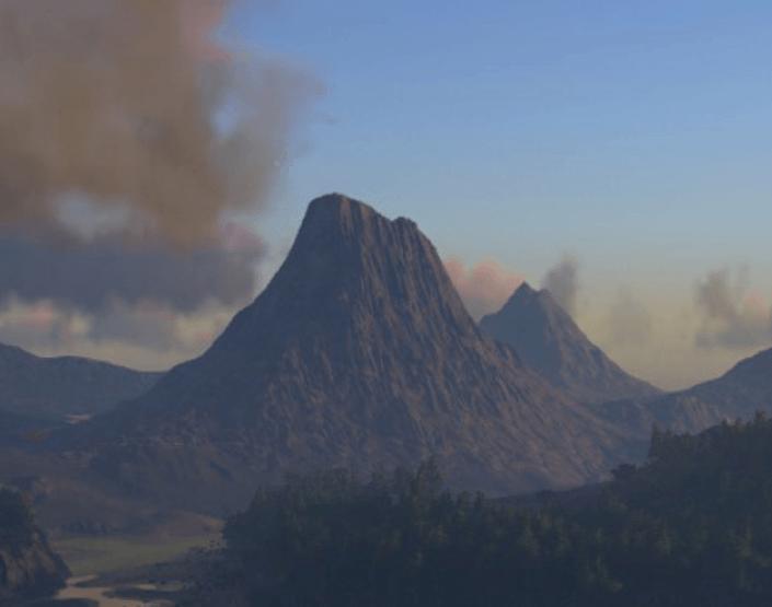 Volcano, the Island Map