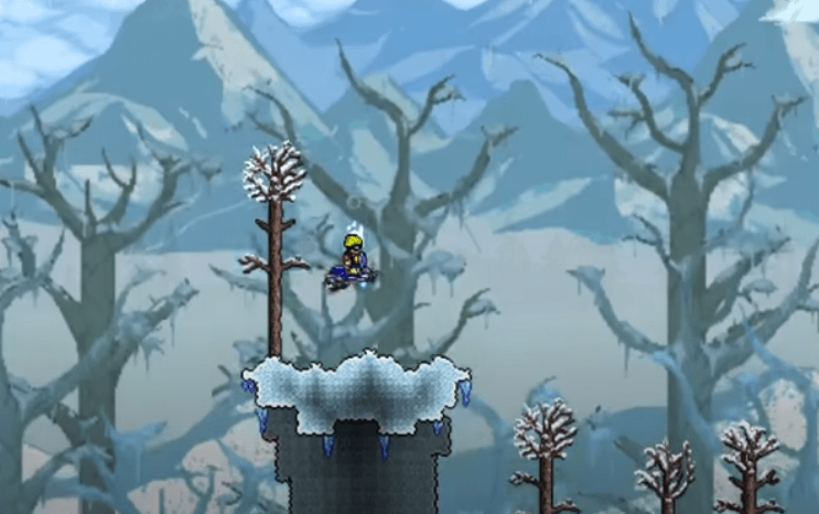 Winter is coming in Terraria