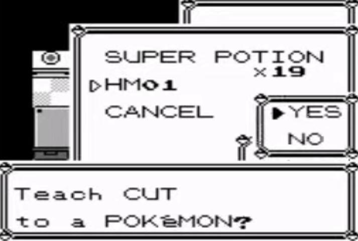 HM01 Teaches the Cut ability