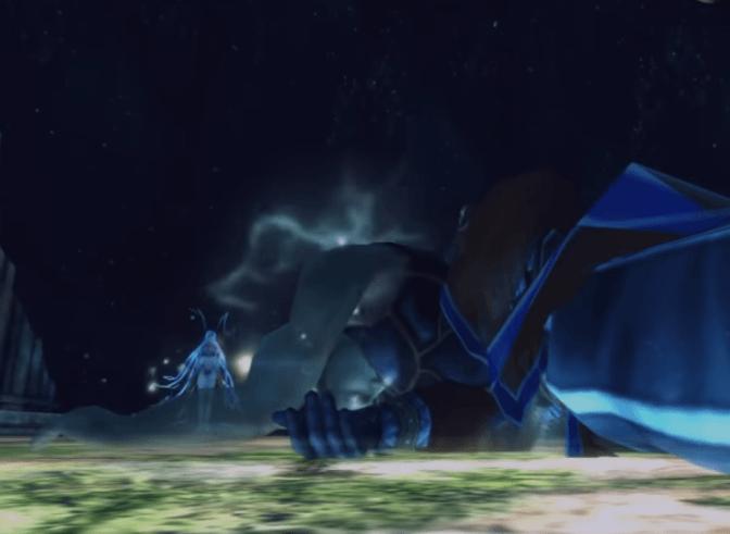 Yunalesca deals a fatal blow to Auron