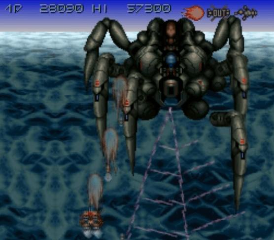 Axelay SNES gameplay