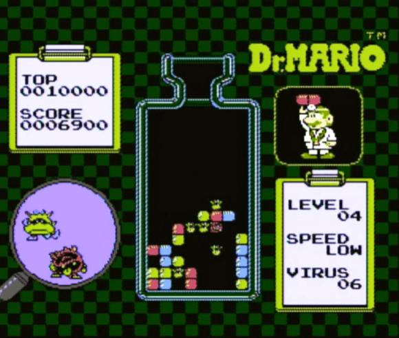 Dr. Mario NES gameplay