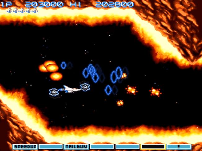 Gradius III SNES gameplay