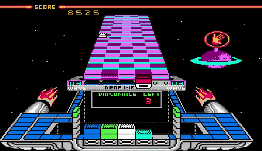 Klax NES gameplay
