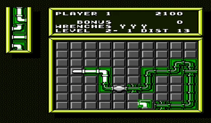 Pipe Dream NES gameplay