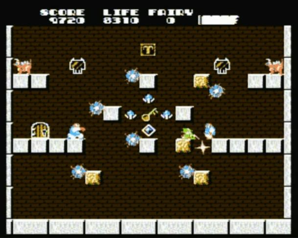 Solomon's Key NES gameplay