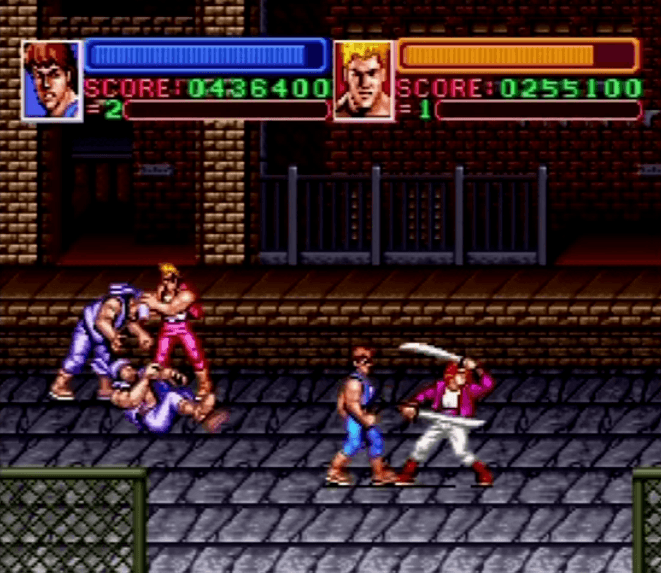 Super Double Dragon - SNES gameplay