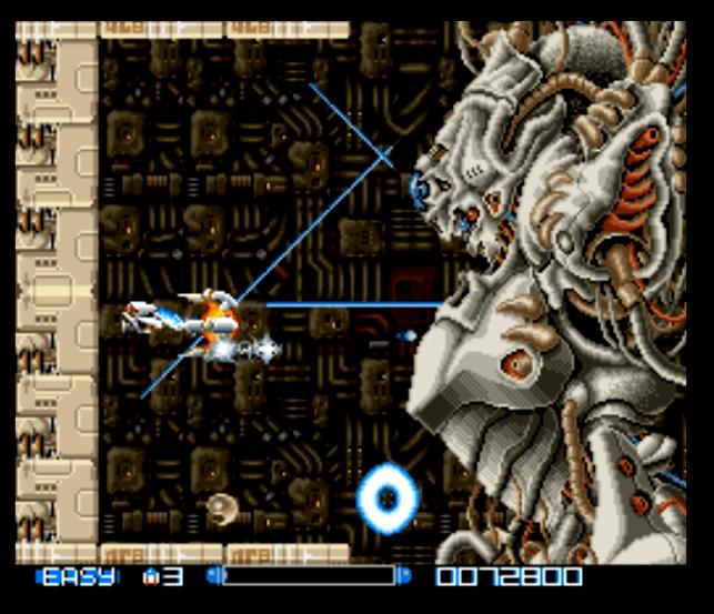 Super R-Type SNES gameplay