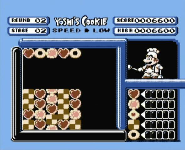 Yoshi's Cookie NES gameplay