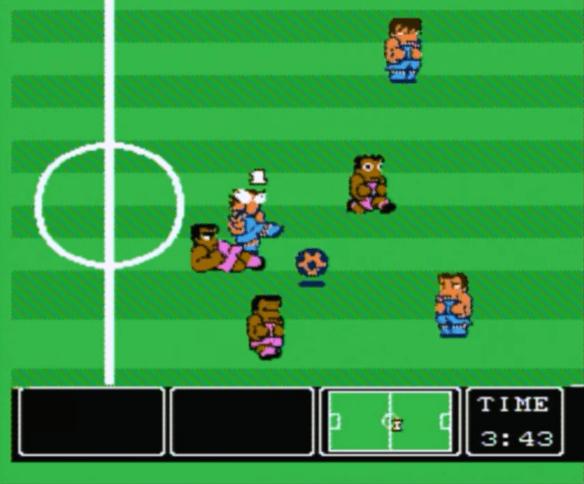 Nintendo World Cup NES gameplay