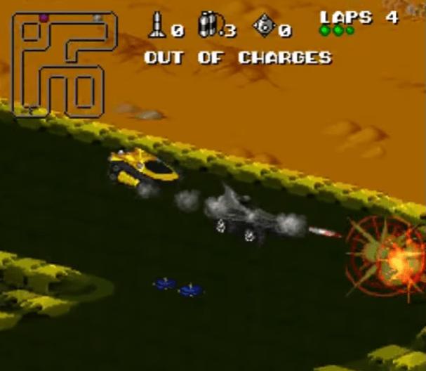 Rock 'n Roll Racing SNES gameplay