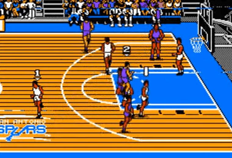 Tecmo NBA Basketball NES gameplay