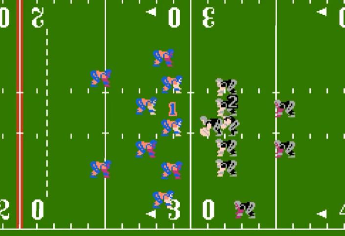 Tecmo Super Bowl NES gameplay