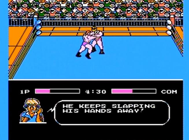 Tecmo World Wrestling NES gameplay