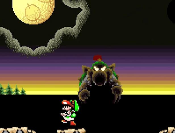 Baby Bowser - Yoshi's Island hardest bosses