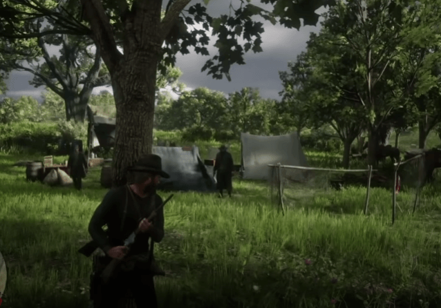 Clearing out bandit camps is an easy way to make money and XP in RDR2
