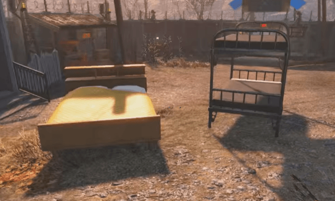 Find a bed to rest in Fallout 4