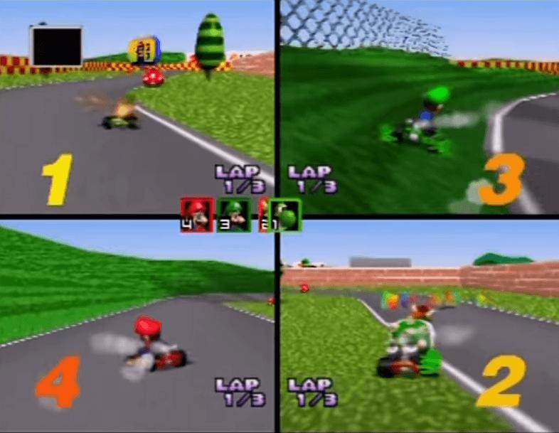 Mario Kart N64 Gameplay