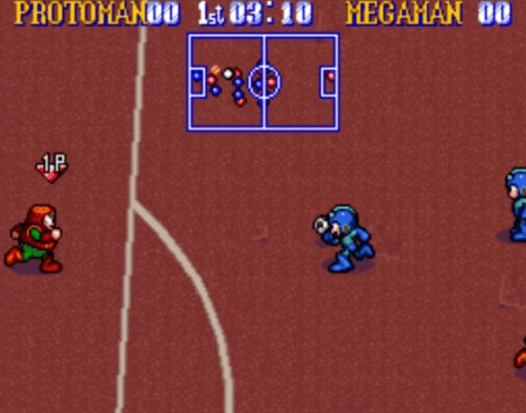 Mega Man Soccer - SNES gameplay