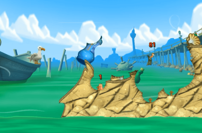 Worms 3 Gameplay